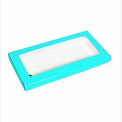 Упаковка для шоколада с окном Голубой 17,1х8х1,4 см