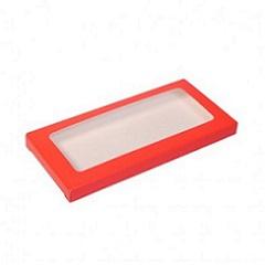 Упаковка для шоколада с окном Красный 17,1х8х1,4 см