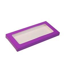 Упаковка для шоколада с окном Фиолетовый 17,1х8х1,4 см