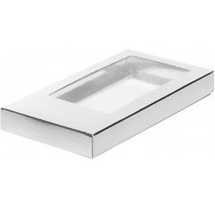 Упаковка для шоколада с окном Серебро 16х8х1,7 см