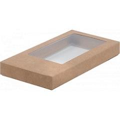 Упаковка для шоколада с окном Крафт 16х8х1,7 см