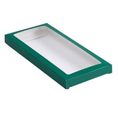 Упаковка для шоколада с окном Изумруд 17,1х8х1,4 см
